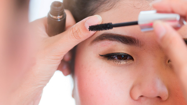 Make-up application at the Spa and salon