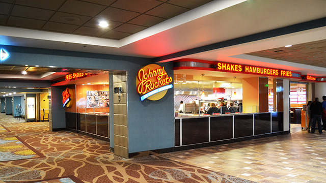 Enjoy classic hamburgers, french fries and shakes at Johnny Rockets